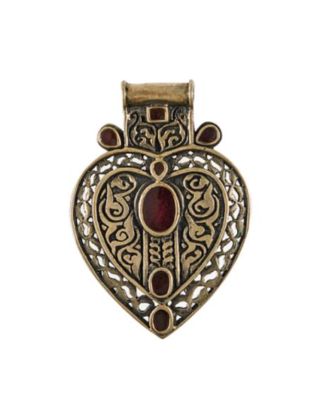 Afghan Heart Pendant-Brooch