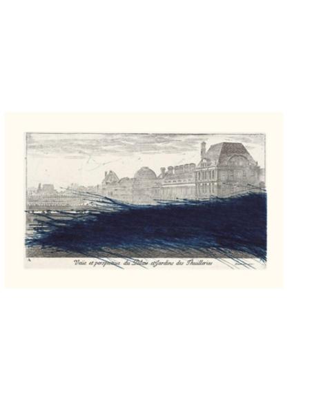 Arnulf Rainer : Vue et perspective du palais et des jardins des Tuileries, 1992