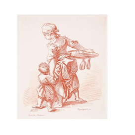 Femme tenant un enfant par la main