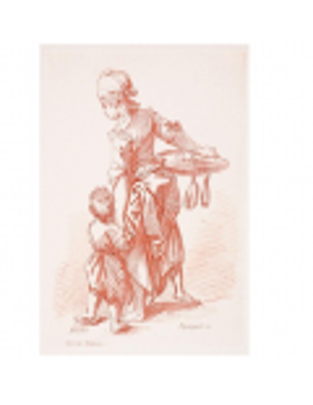 Mujer agarrando a un niño por la mano